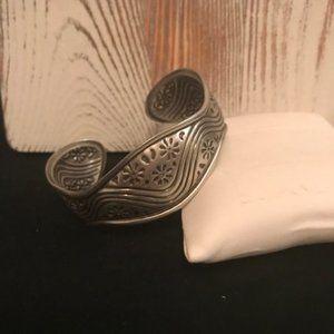 Lia Sophia - Matte Silver Cuff Bracelet
